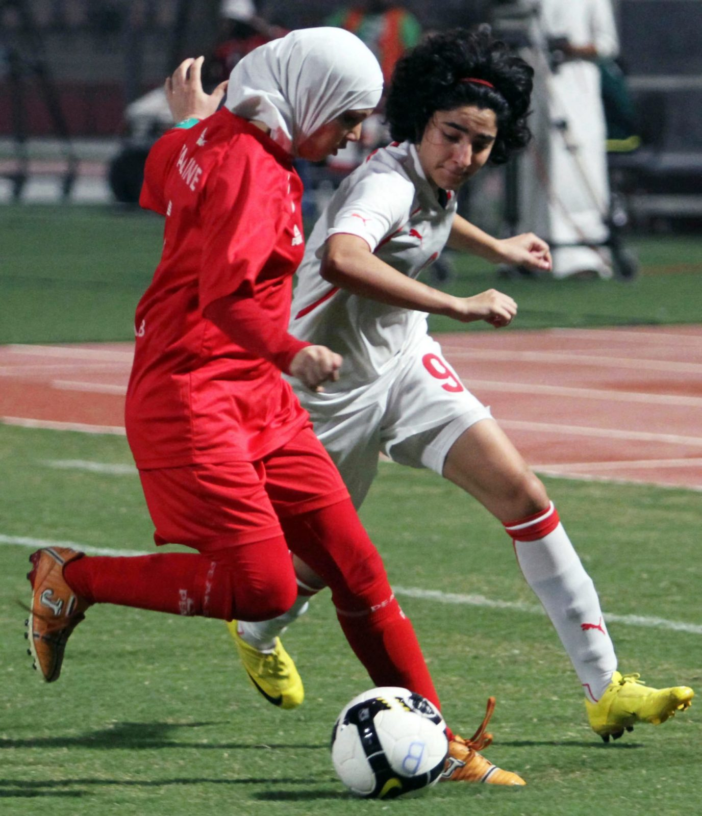 Hijhab scores a goal against FIFA