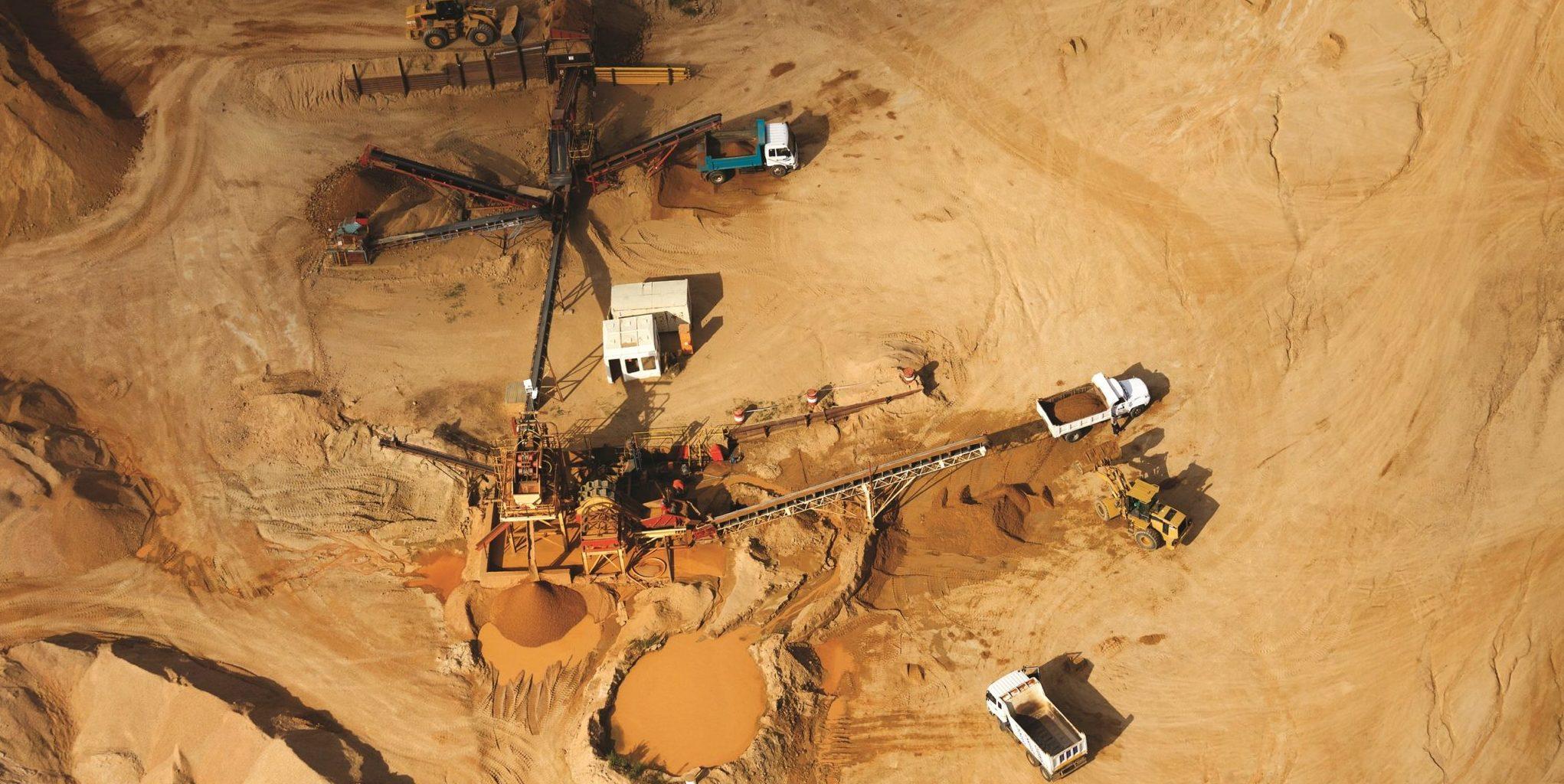 Aerial view of a quarry, Johannesburg, South Africa
