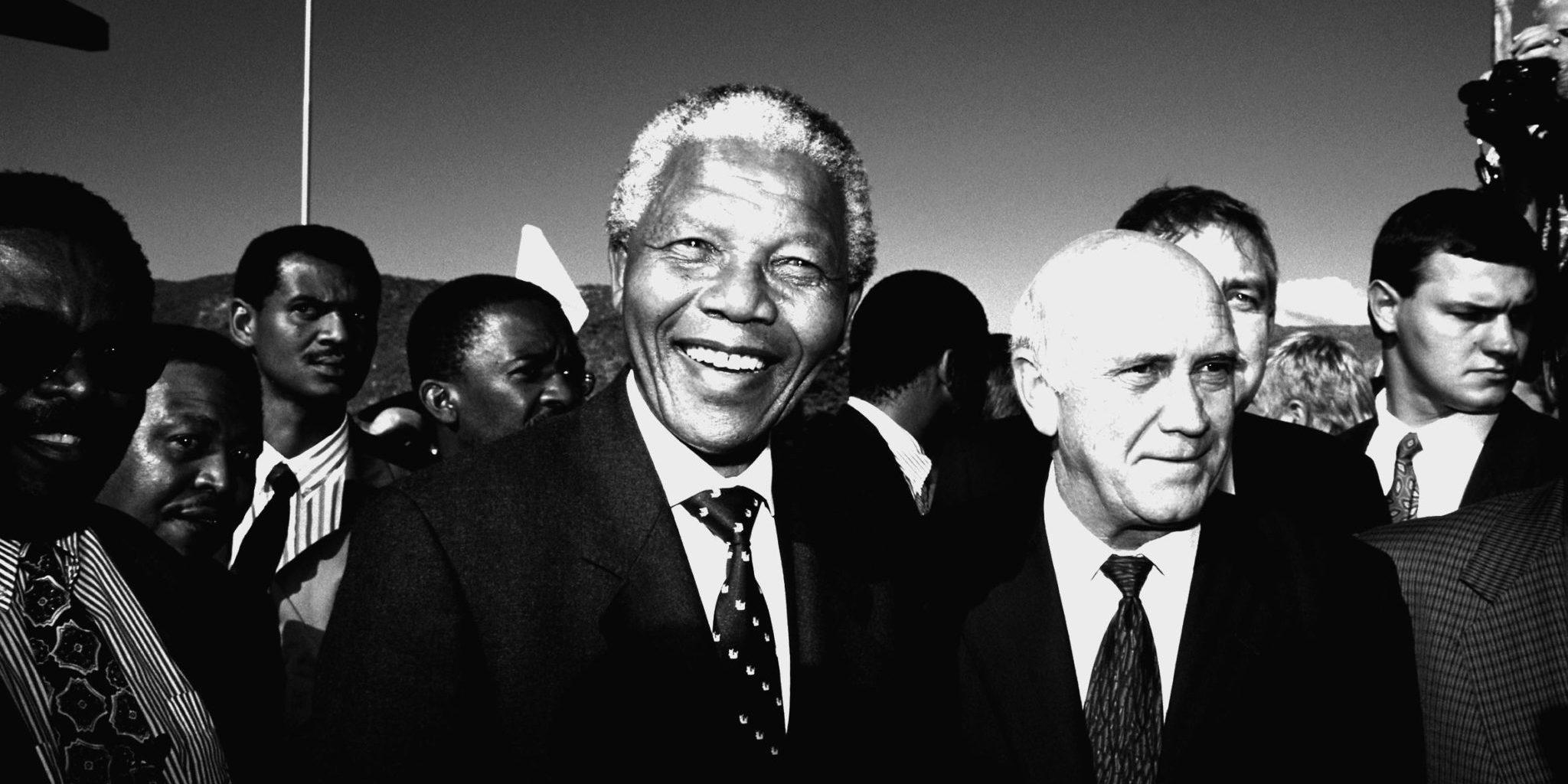Nelson Mandela and F.W. de Klerk in Moria