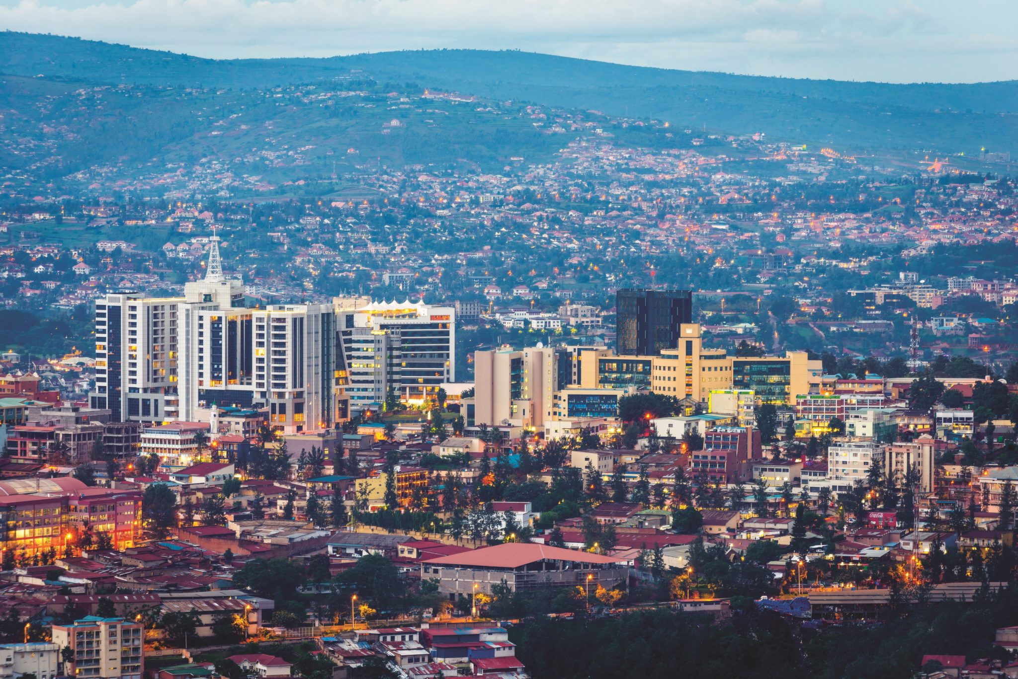 Kigali city view from Nyarugenge