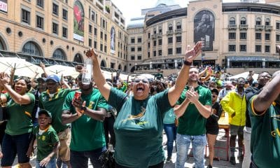 Rugby World Cup 2019, Final: England v South Africa Mtach viewing at Nelson Mandela Square