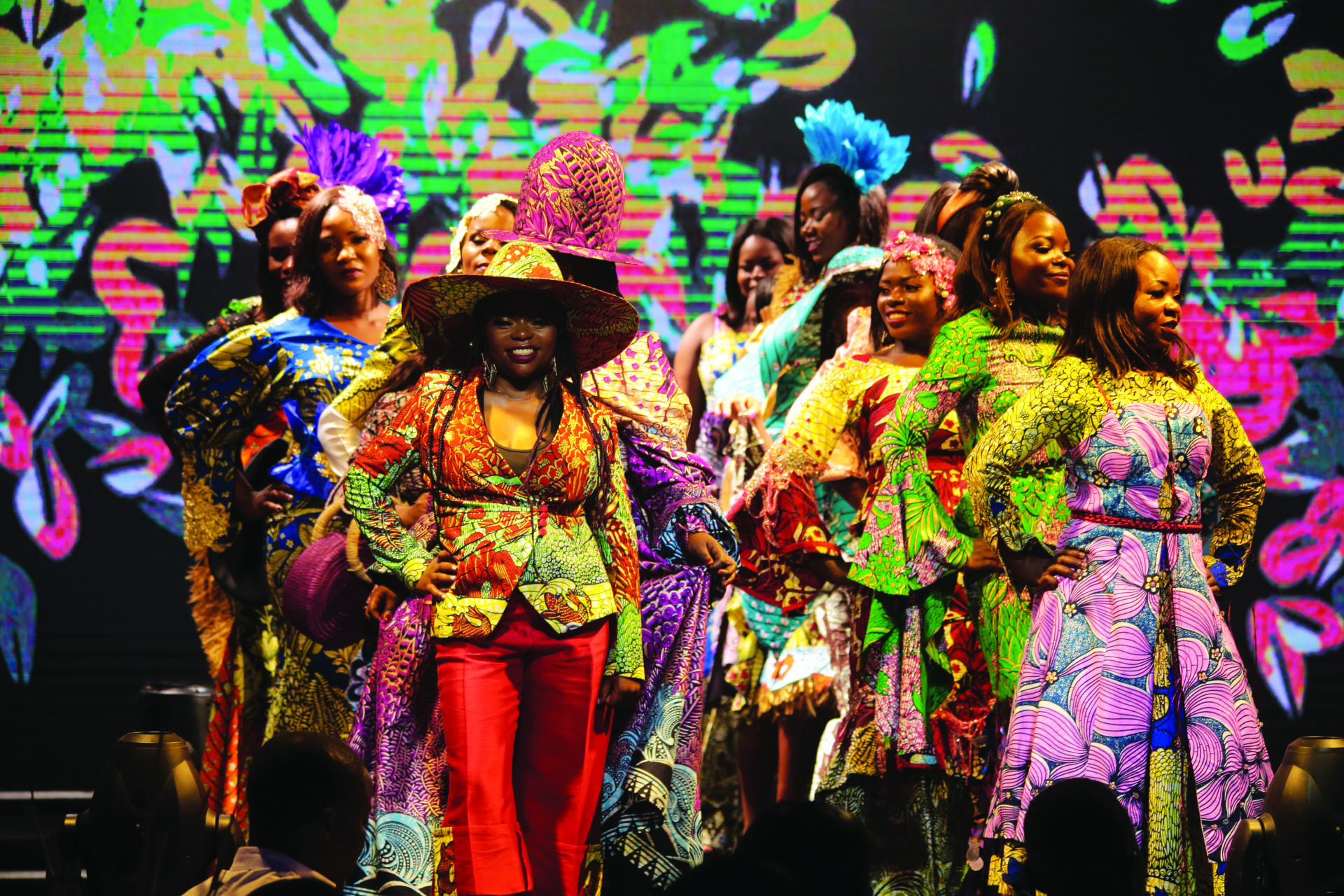 City of Joy graduates walk the catwalk in Kinshasa to launch the City of Joy Collection (1)