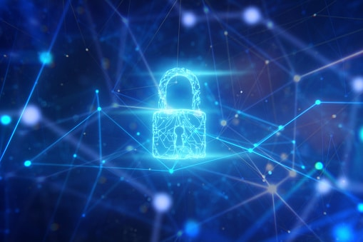 Security system of circuit padlock hologram in network space.