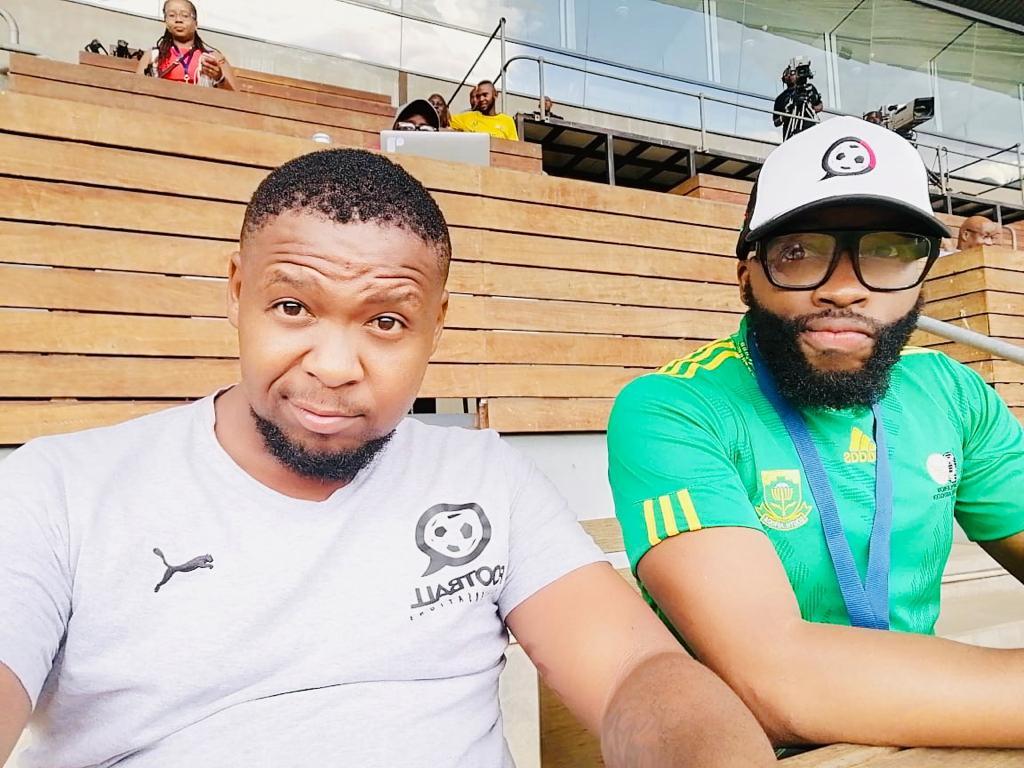 Bandile Roro and Tiisetso Mofokeng at Orlando Stadium, Johannesburg