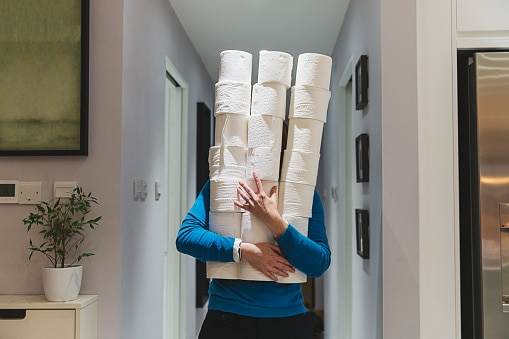 Panic buying and stockpiling toilet rolls…