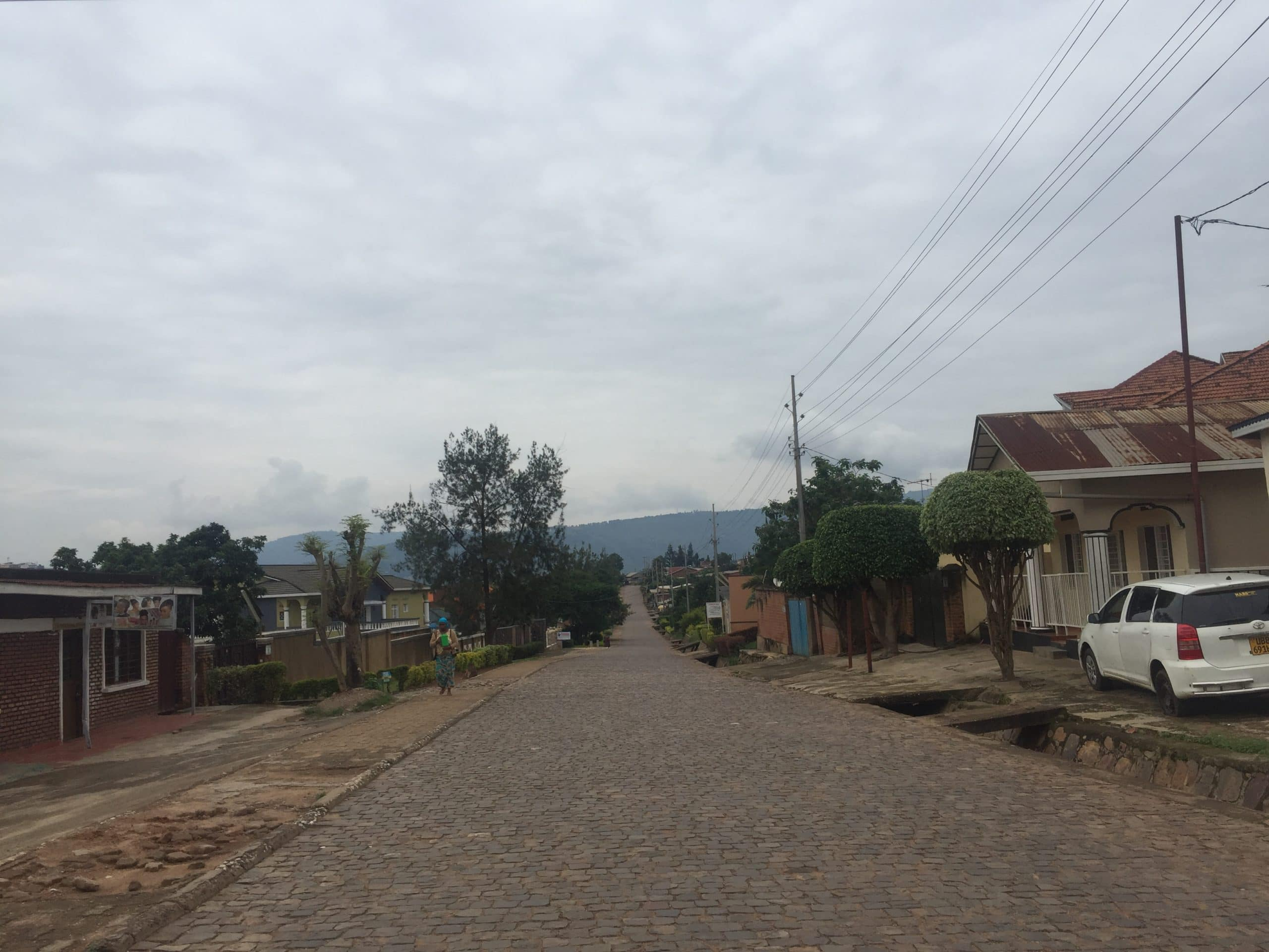 Deserted streets in Kigali during lockdown
