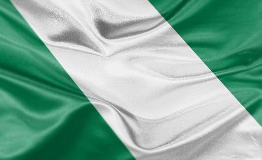 High resolution digital render of Nigeria flag.