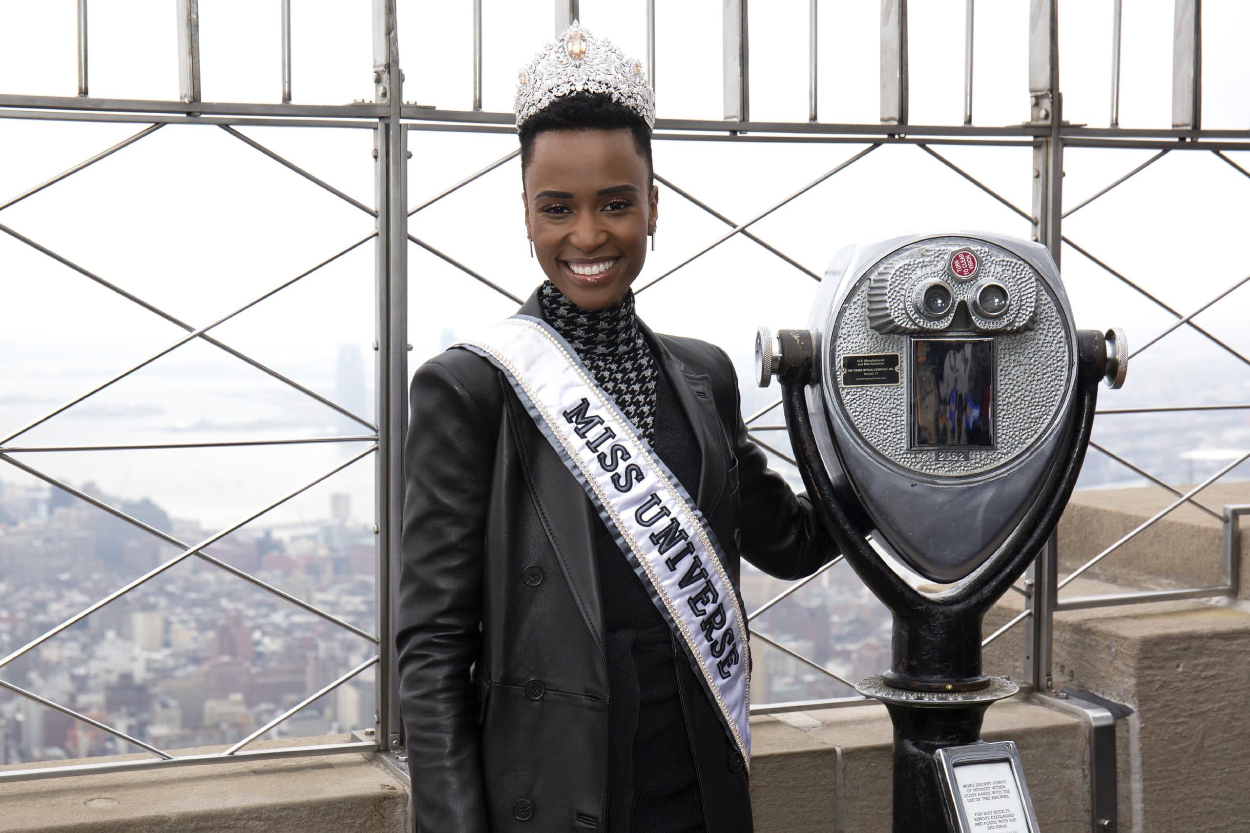 Empire State Building Hosts Miss Universe 2019 Zozibini Tunzi