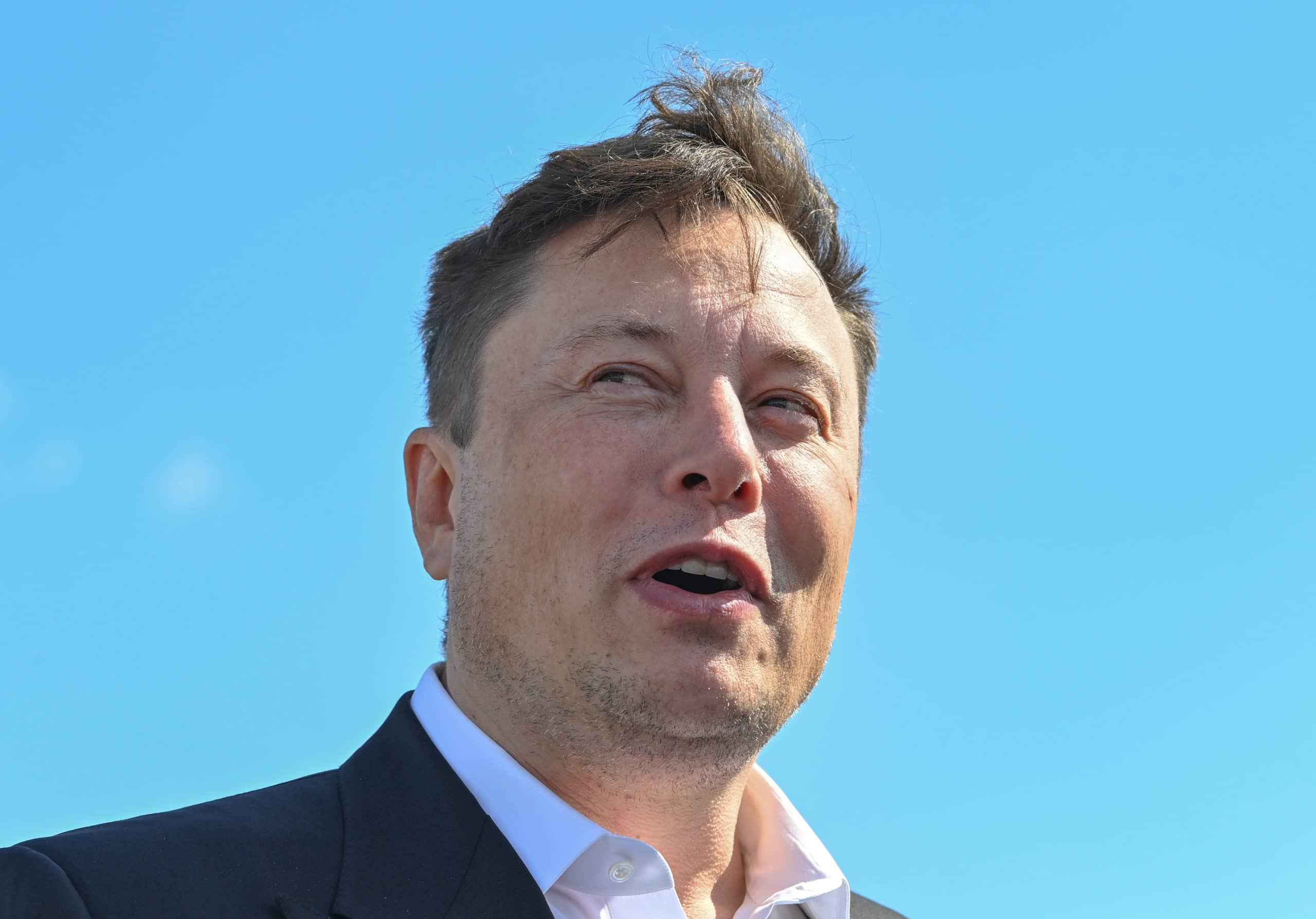 Elon Musk visits construction site of the Tesla Giga Factory