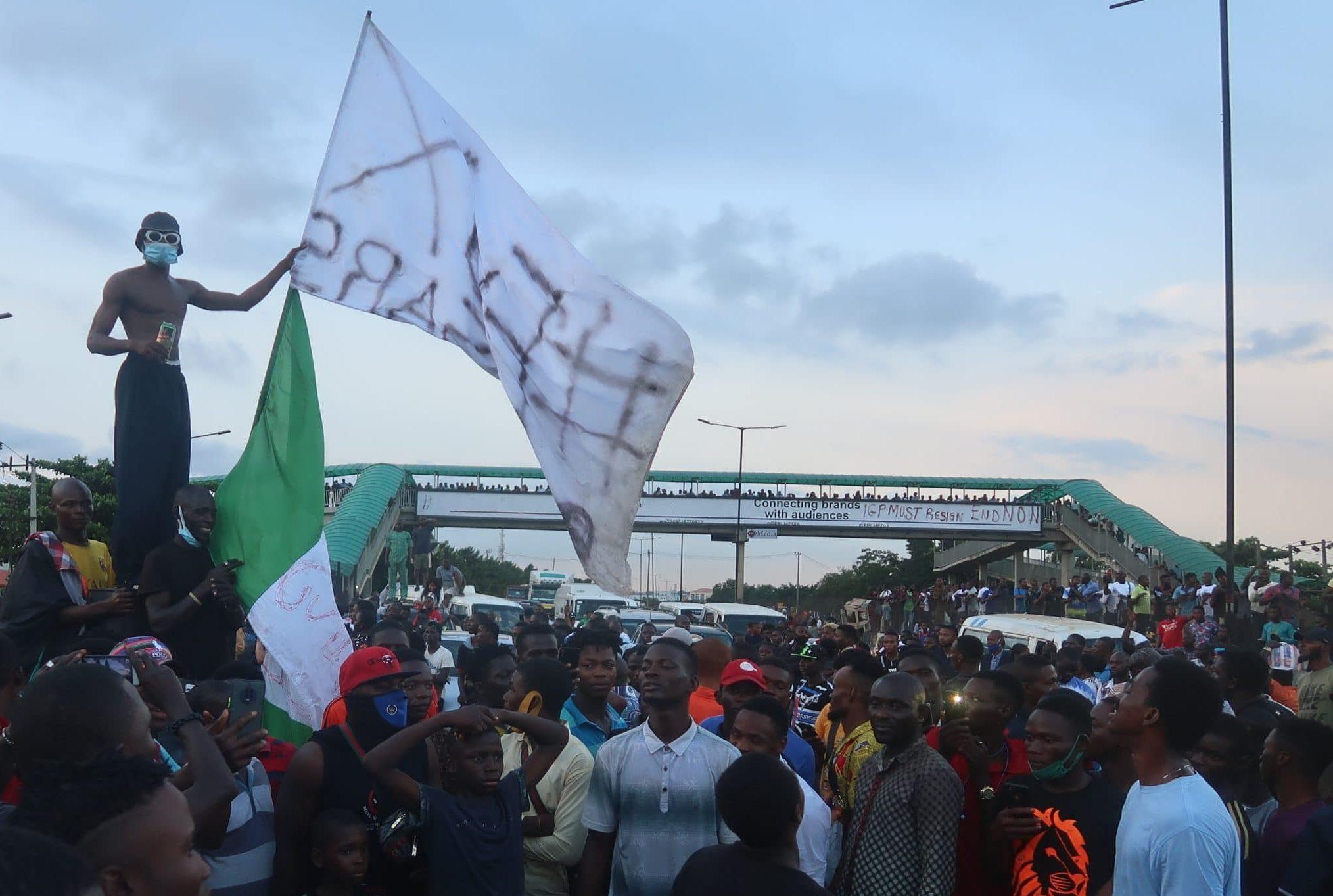 EndSARS Protesters Block Highways In Lagos