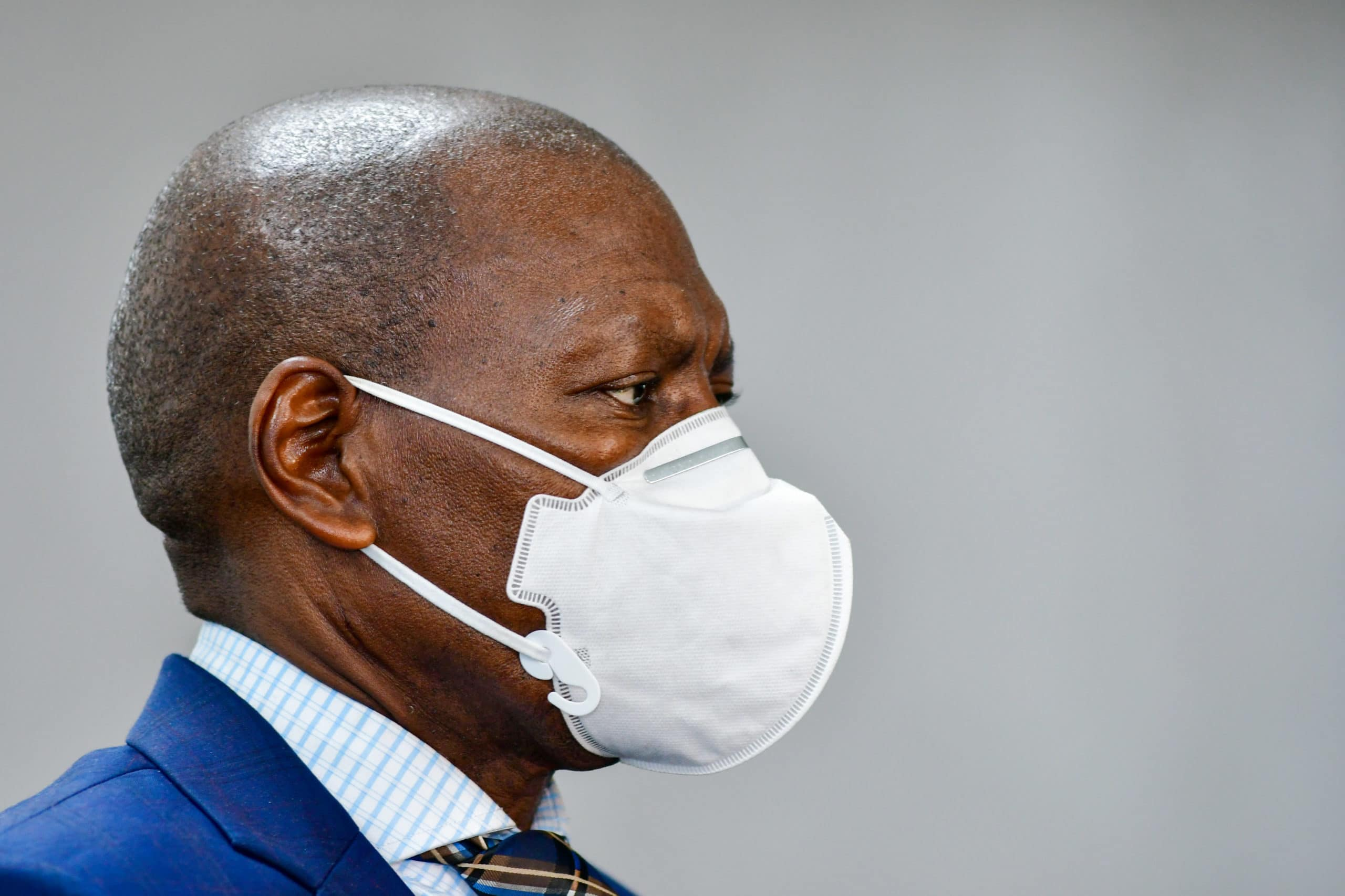 South African  Minister Dr Zweli Mkhize visits Clairwood Hospital in Durban ahead of the expected peak in the Province
