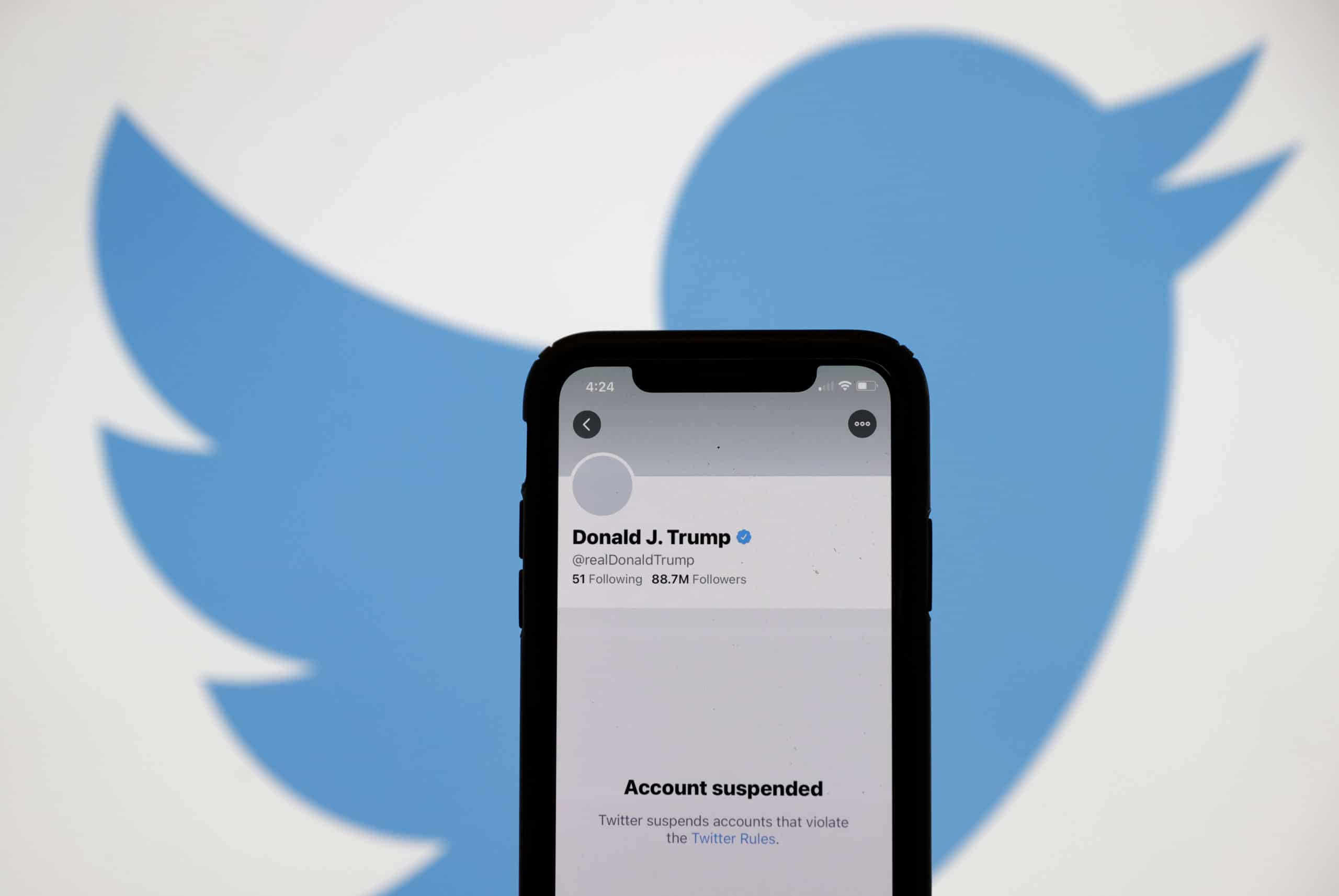 Twitter Permanently Suspends President Donald Trump's Twitter Account