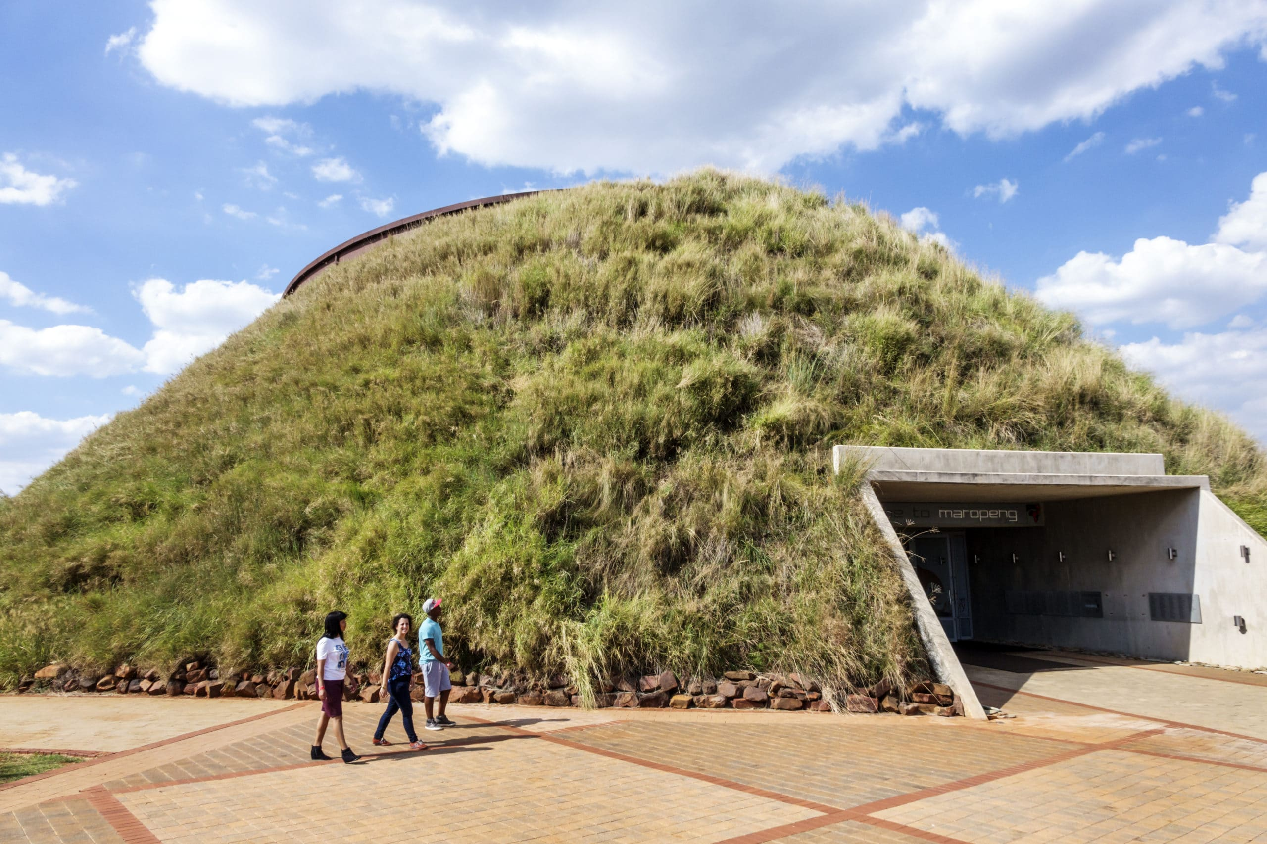 Visitors center, Cradle of Humankind, Tumulus Building exterior earth covered
