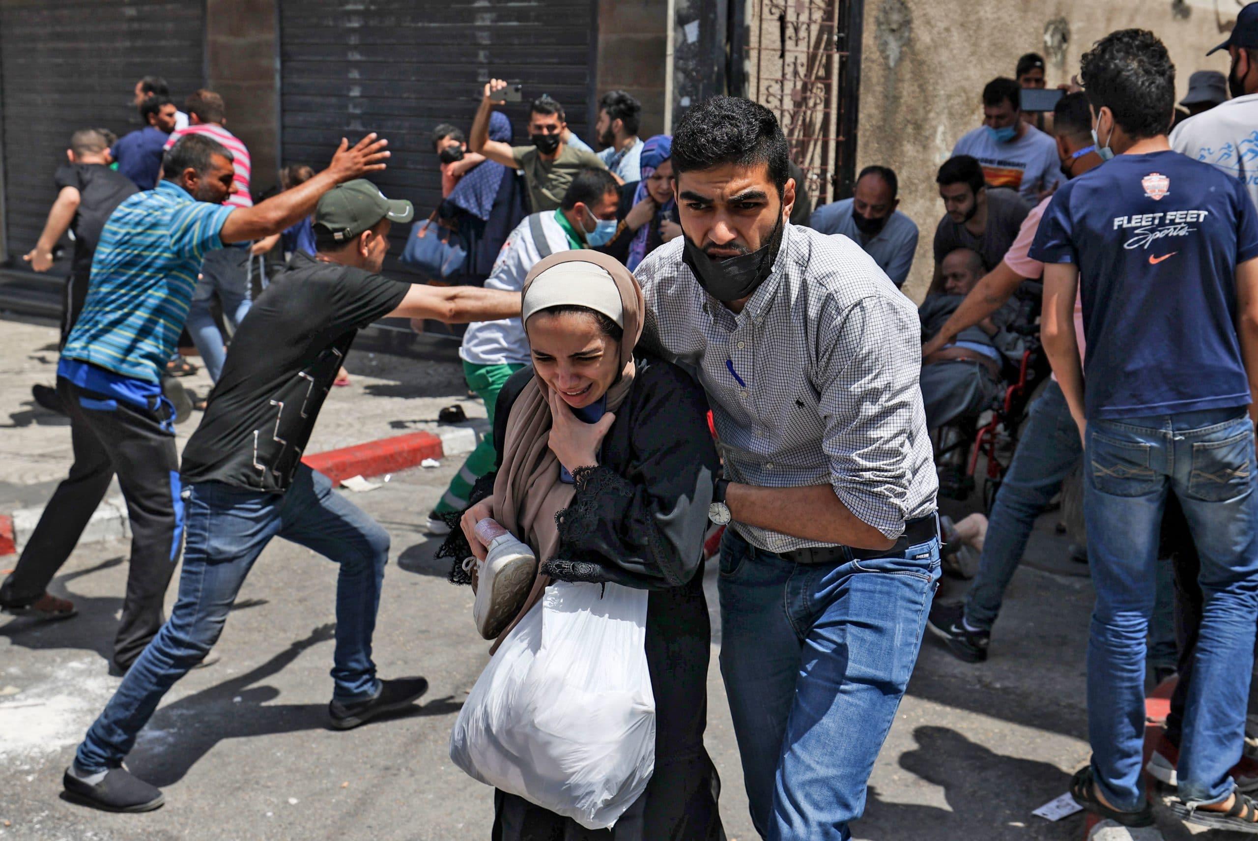 TOPSHOT-PALESTINIAN-ISRAEL-GAZA-ROCKET