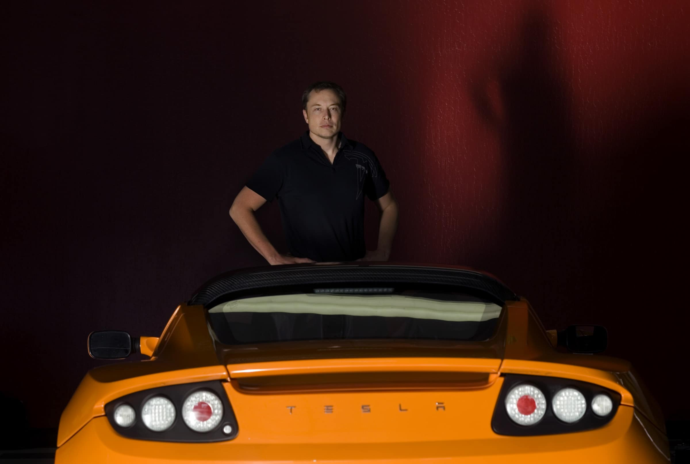 Elon Musk, CEO of SpaceX and chairman of Tesla Motors at Tesla's headquarters in San Carlos Tuesday Oct. 24, 3008.  Silicon Valley icon Musk became a billionaire founding PayPal, but he's out to do something even more important – help humanity reach beyon