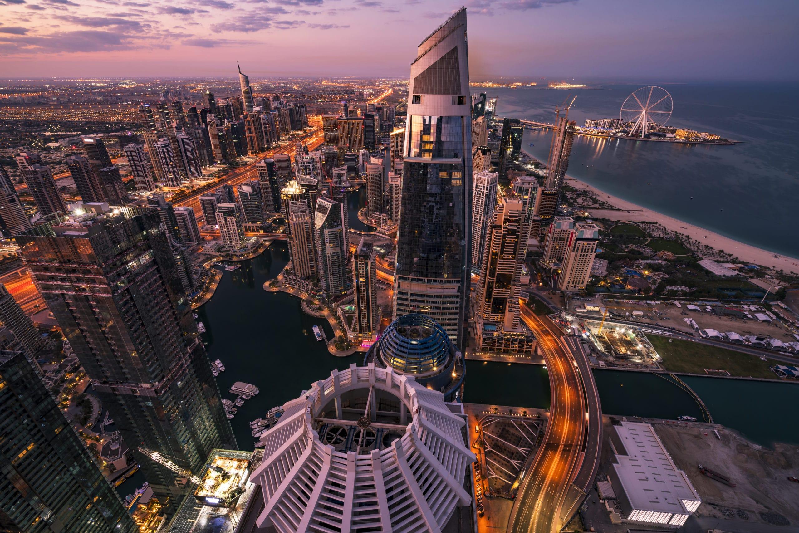 City skyline in Dubai