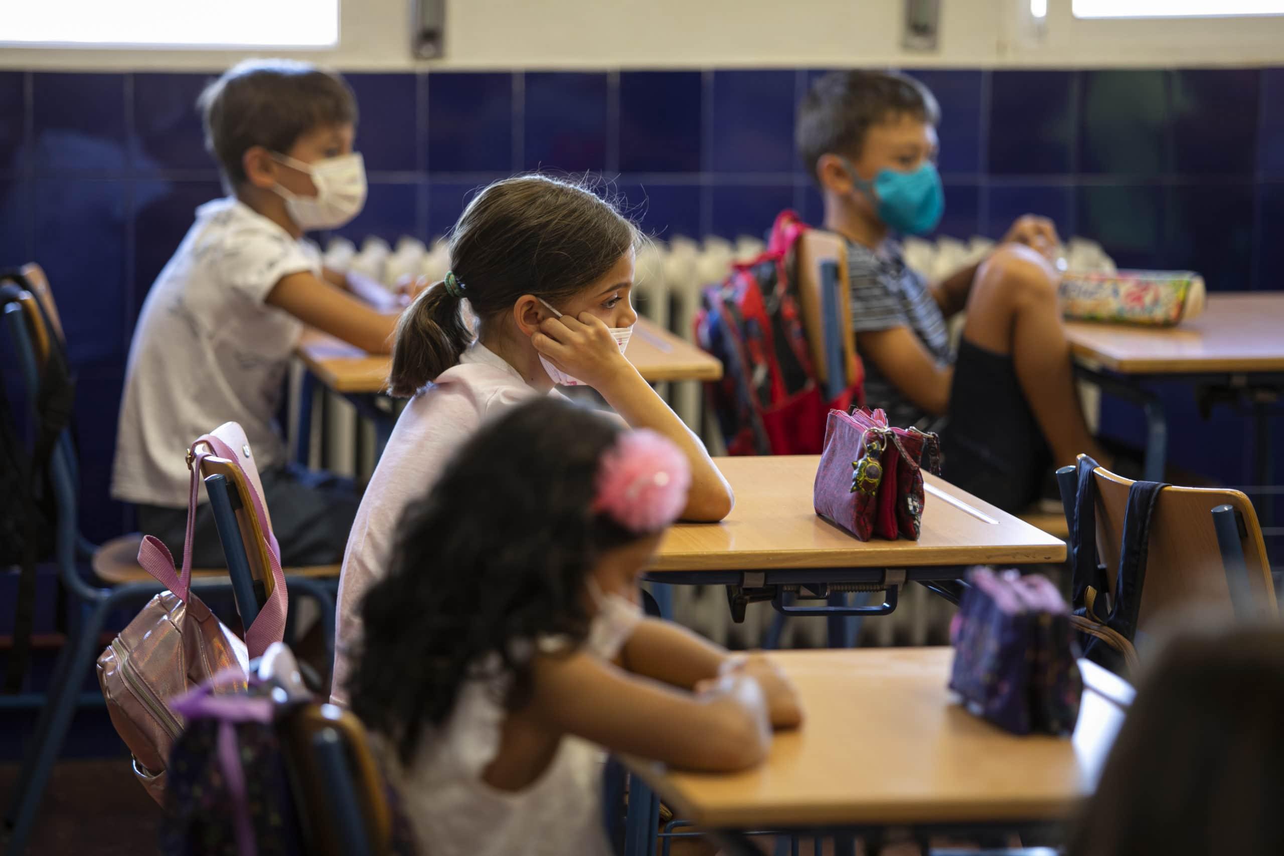 Opening of the Primary School Year in Granada, Spain amid the coronavirus pandemic