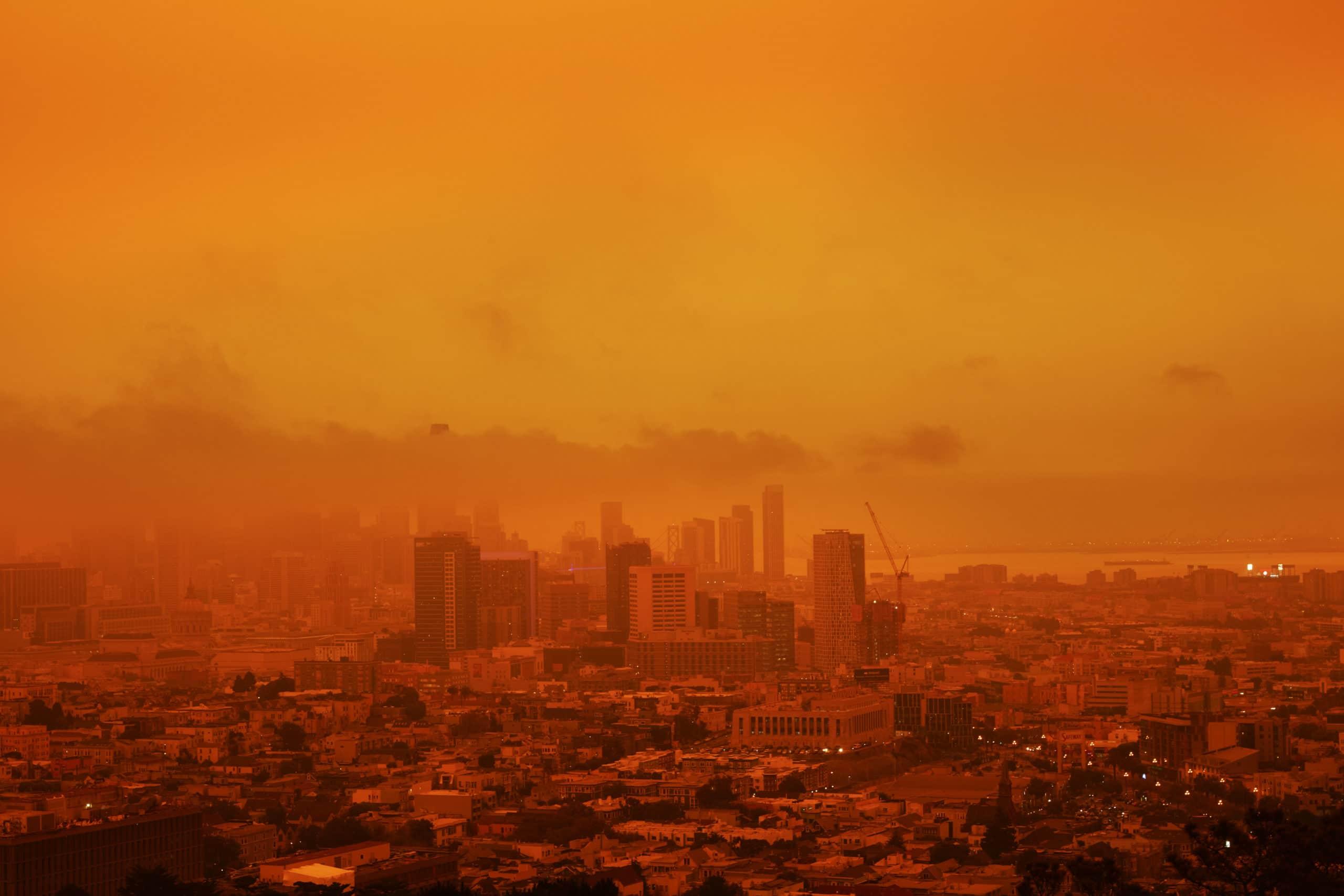Orange Smokey SF Skyline